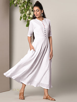 White Flared Cotton Dress