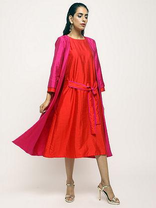 Pink Cotton-Silk Jacket