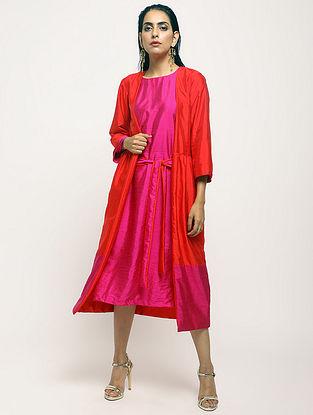 Orange Cotton-Silk Jacket