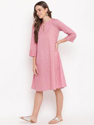 Pink Cotton-Dobby Dress