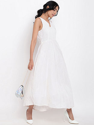 Ivory Cotton Dobby Dress