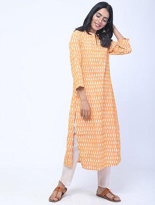 Yellow Ikat Handwoven Cotton Kurta