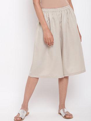 Grey Cotton Linen Elasticated Pants