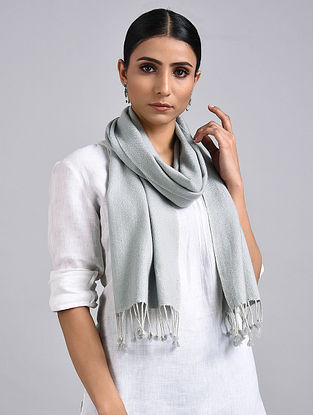 Grey Handwoven Pashmina Muffler