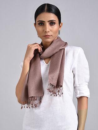 Brown Handwoven Pashmina Silk Muffler
