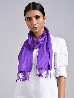 Purple Handwoven Pashmina Silk Muffler