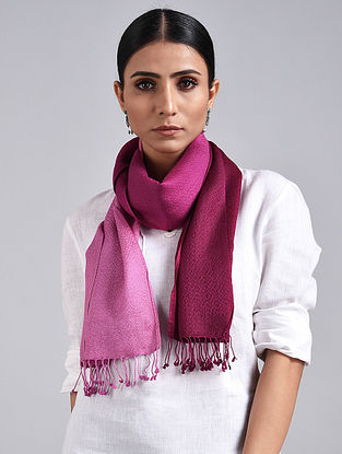 Pink Handwoven Pashmina Silk Muffler