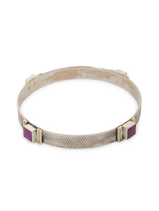 Maroon Tribal Silver Bangle