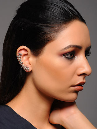 Tribal Silver Ear Cuffs