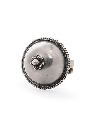 Tribal Silver Adjustable Ring