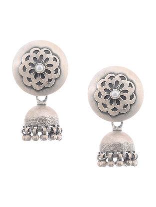Pearl Silver Jhumkis