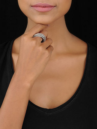 Tribal Silver Ring (Ring Size- 6.5)