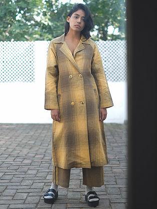 Yellow-Brown Handwoven Cotton Linen Jacket