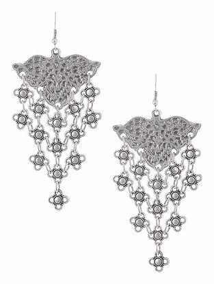 Classic Telkari-inspired Earrings with Floral Design