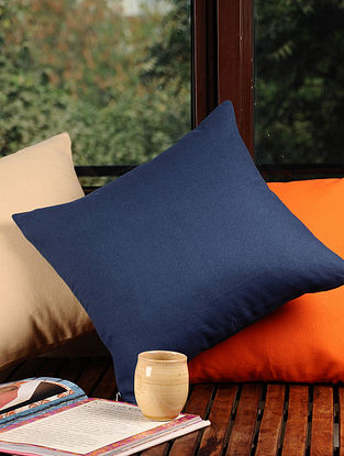 Navy Solid Cushion Cover 16in X 16in