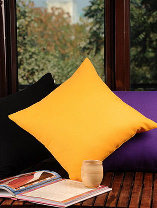Yellow Solid Cushion Cover 16in X 16in