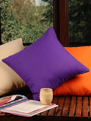 Purple Solid Cushion Cover 16in X 16in
