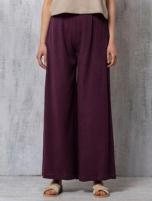 Plum Handwoven Cotton Pants