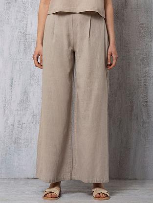 Grey Handwoven Cotton Pants