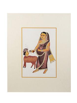 Limited Edition Kalighat Art work - 27.5 X 22.5