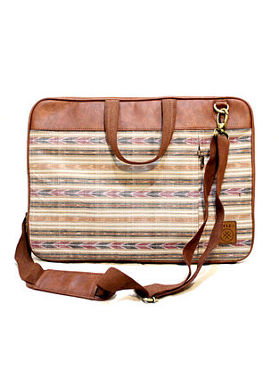 Multicolor Handcrafted Vegan Leather Laptop Bag