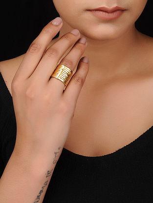 Classic Gold Tone Brass Ring
