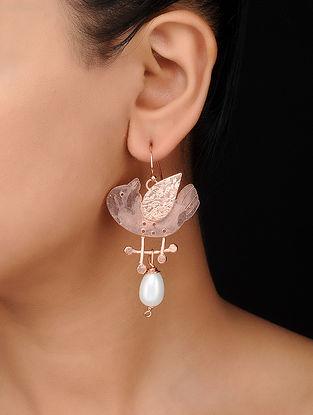 Rose Gold Tone Brass Earrings