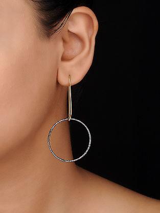 Black Gold Tone Brass Earrings