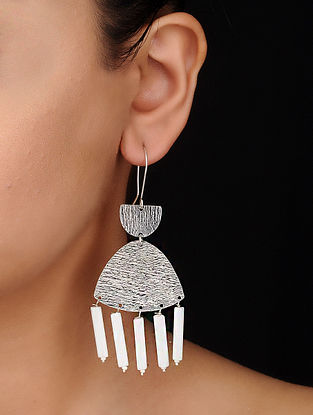 Classic Silver Tone Brass Earrings