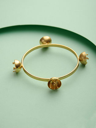 Yellow Gold Tone Brass Bangle