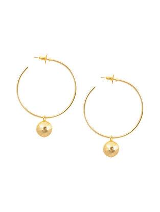 Gold Tone Brass Hoop Earrings