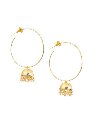 Gold Tone Brass Jhumki Earrings