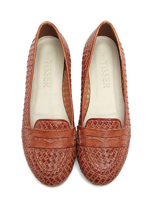 Tan Leather Ballerinas