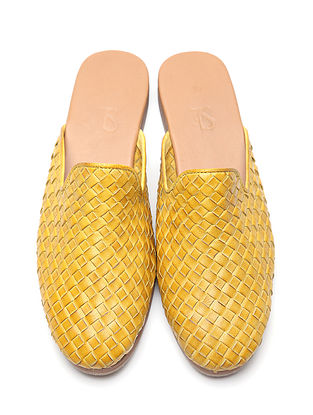 Yellow Leather Mules