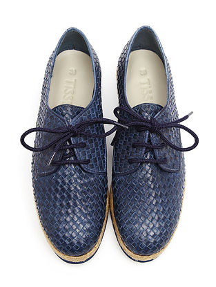 Blue-Brown Leather Shoes