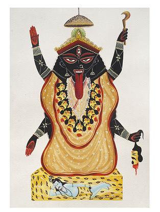 Kalighat Pattachitra Maa Kali Digital Print on Archival Paper (11.5in x 8.5in)