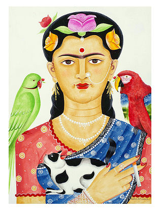 Limited Edition Kalighat Pattachitra Kali-Kahlo 14 Digital Print on Paper- 8.5in x 11.5in