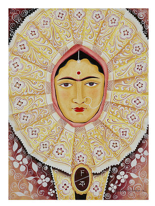 Limited Edition Kalighat Pattachitra Kali-Kahlo 15 Digital Print on Paper- 8.5in x 11.5in