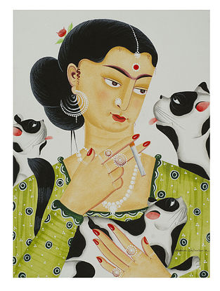 Limited Edition Kalighat Pattachitra Kali-Kahlo 16 Digital Print on Paper- 8.5in x 11.5in