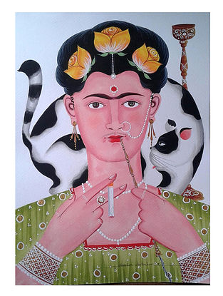 aeb4e4bb67c1c Limited Edition Kalighat Pattachitra Kali-Kahlo 18 Digital Print on Paper -  8.5in x