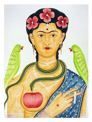Limited Edition Kalighat Pattachitra Kali-Kahlo 19 Digital Print on Paper- 8.5in x 11.5in