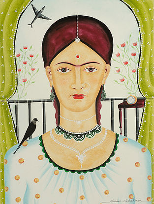 Limited Edition Kalighat Pattachitra Kali-Kahlo 22 Digital Print on Paper- 8.5in x 11.5in