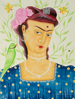 Limited Edition Kalighat Pattachitra Kali-Kahlo 23 Digital Print on Paper- 8.5in x 11.5in