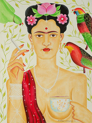 Limited Edition Kalighat Pattachitra Kali-Kahlo 24 Digital Print on Paper- 8.5in x 11.5in