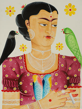 Limited Edition Kalighat Pattachitra Kali-Kahlo 26 Digital Print on Paper- 8.5in x 11.5in