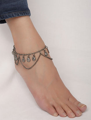 Silver Tone Handcrafted Anklet