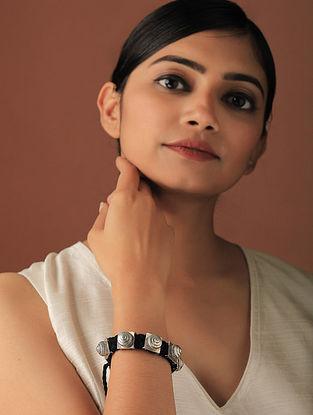 Black Silver Tone Handcrafted Bracelet
