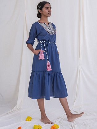 Ame Tier Hand Embroidered Straight Dress