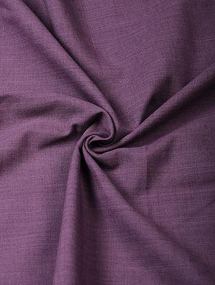 Purple Handloom Cotton Fabric