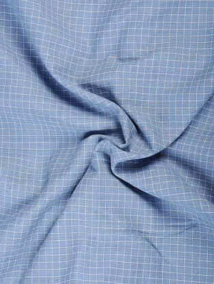 Blue Handloom Cotton Fabric